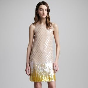 NWT Alice + Olivia Camille Sequin Ombre Dress